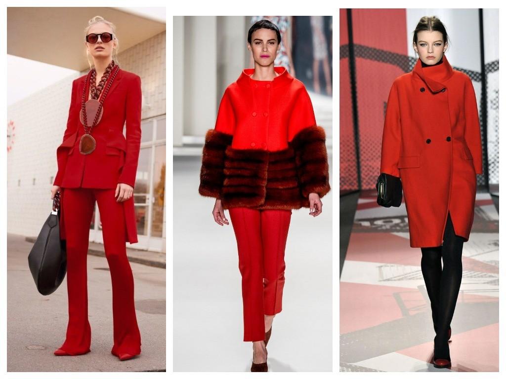 красное в одежде 2019