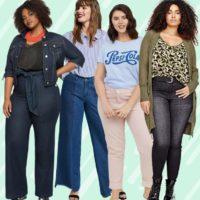 как выбрать модные джинсы плюс сайз