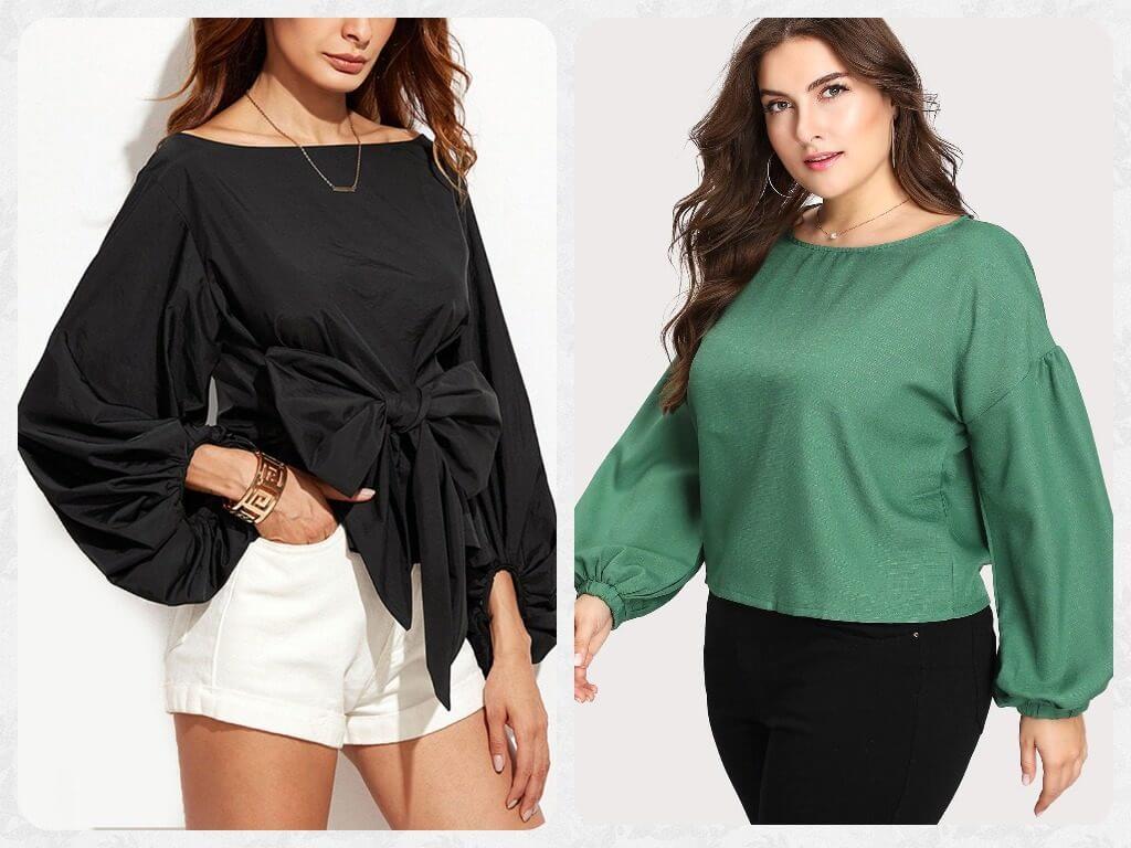 модные блузки с пышным рукавом