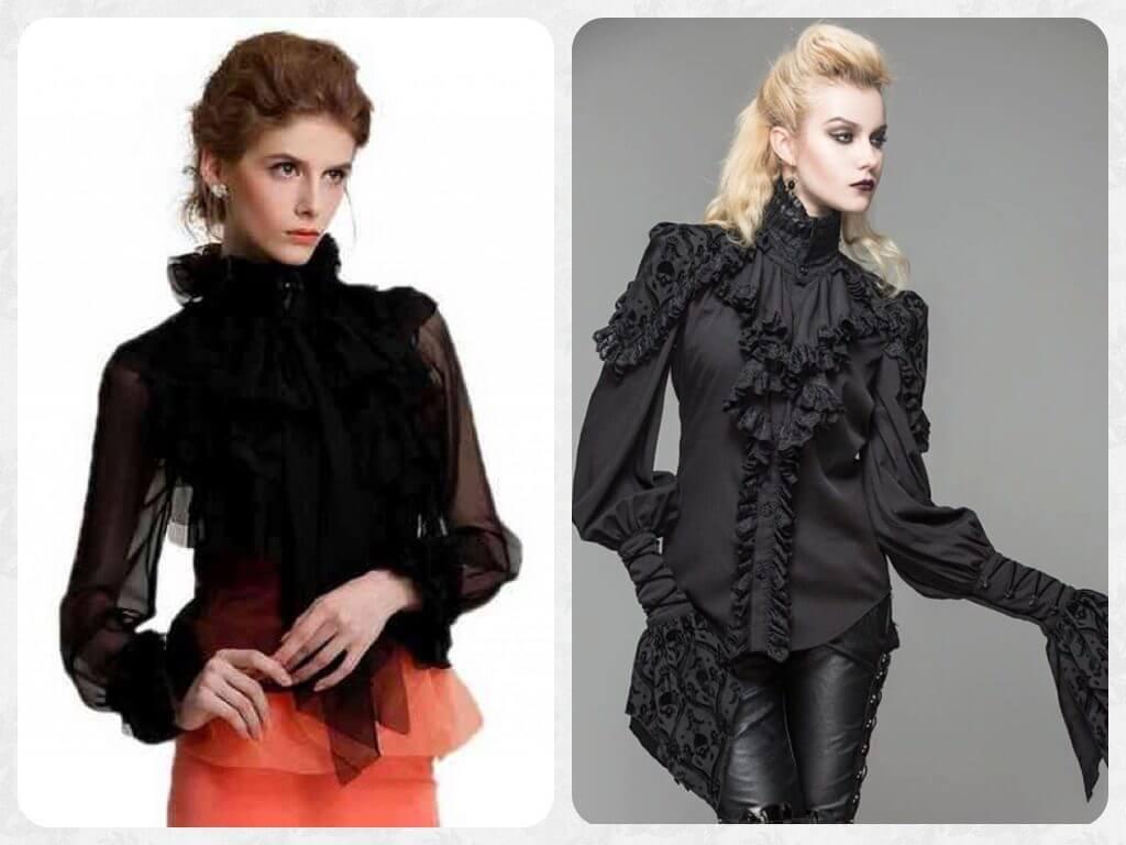 модные блузки в викторианском стиле
