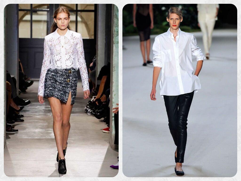 нарядные белые рубашки