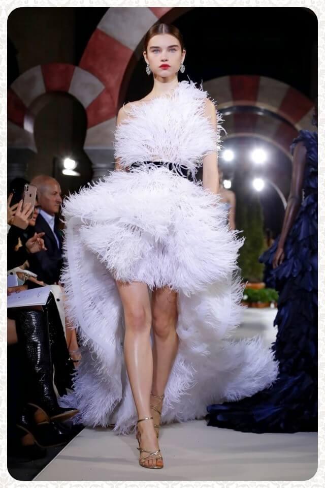 модный тренд модной недели перья