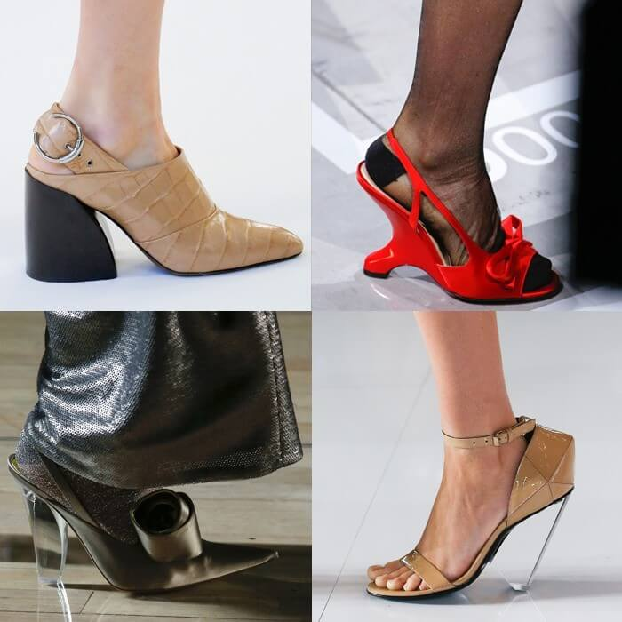 модная обувь архитектурный каблук