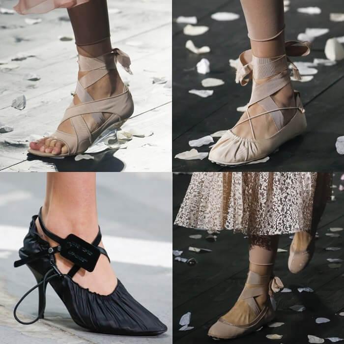 модная обувь балетки