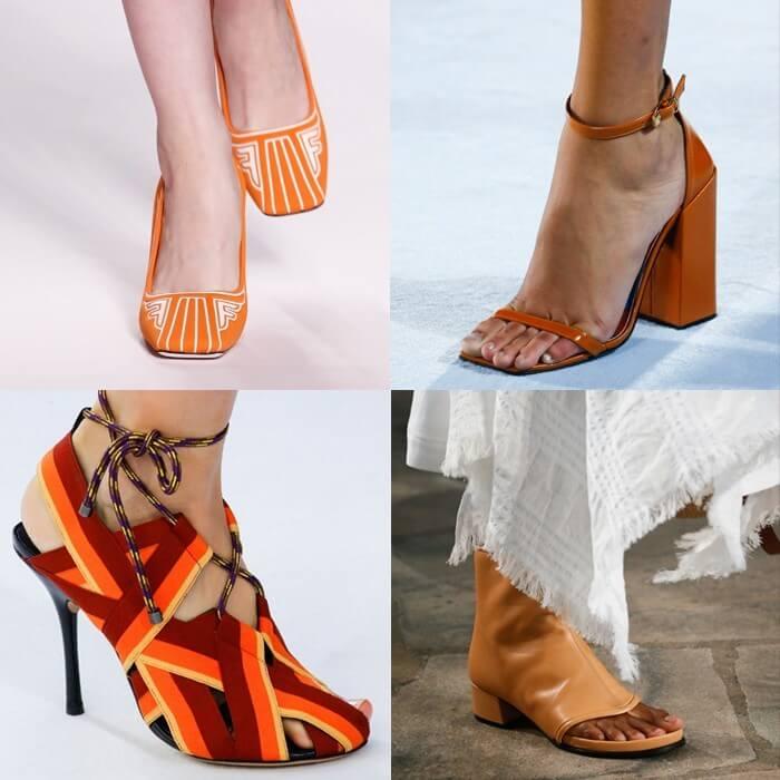 модная обувь оранжевый цвет