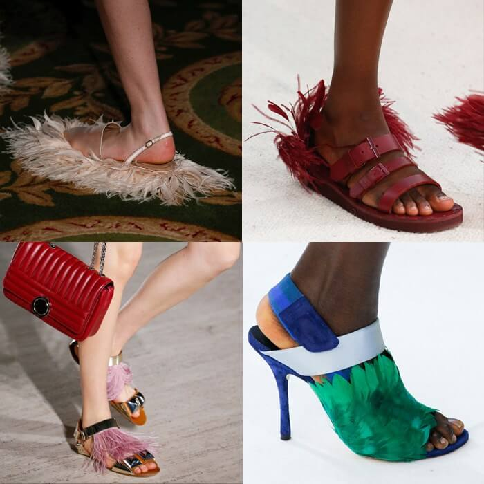 модная обвуь 2019 перья