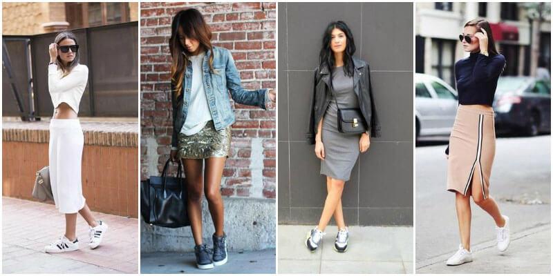 тренд модная обувь, кроссовки