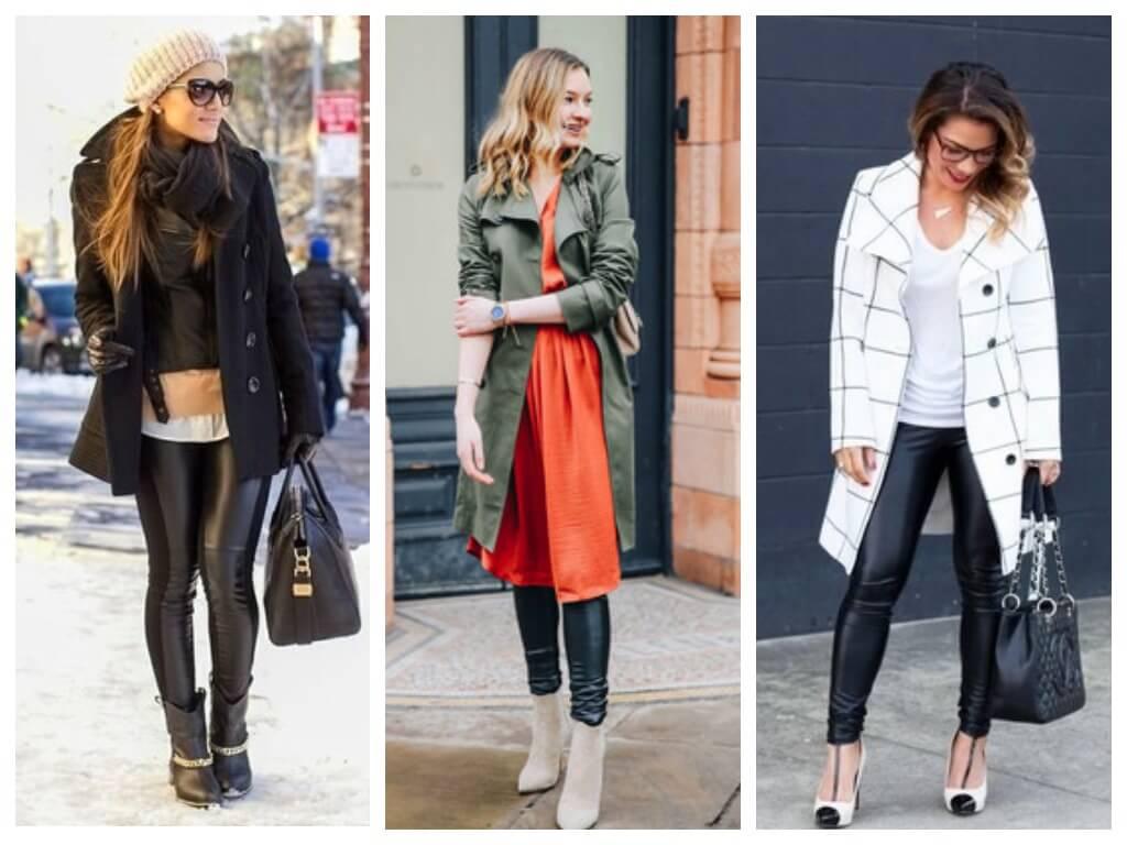 С чем носить кожаные легинсы 2019
