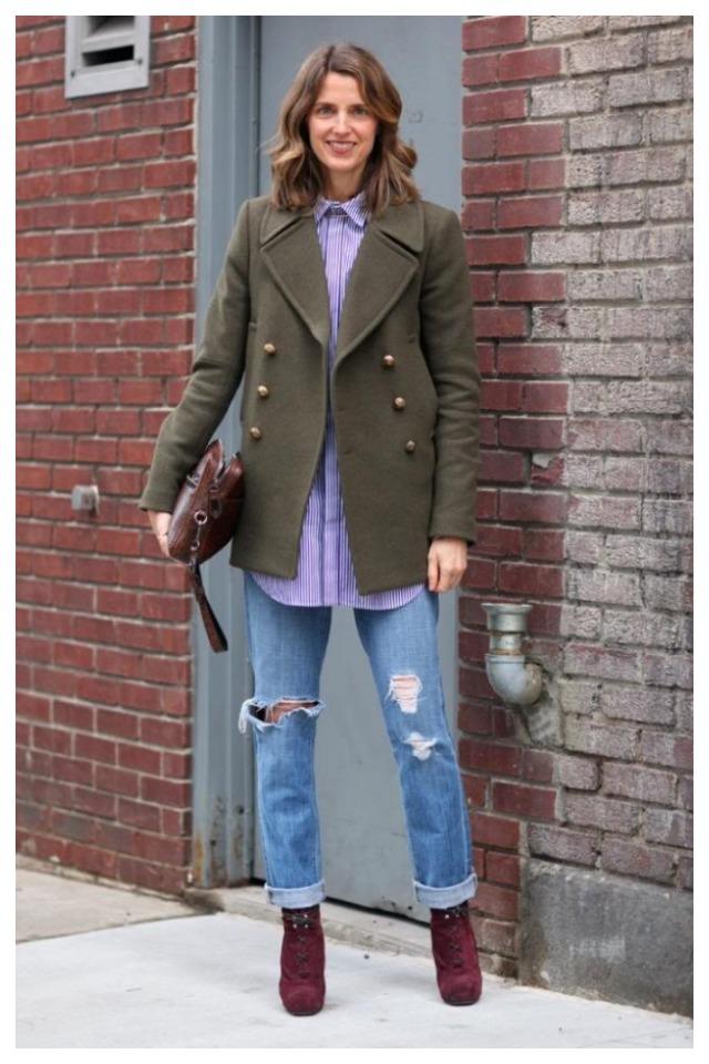 с чем носить рваные джинсы 1