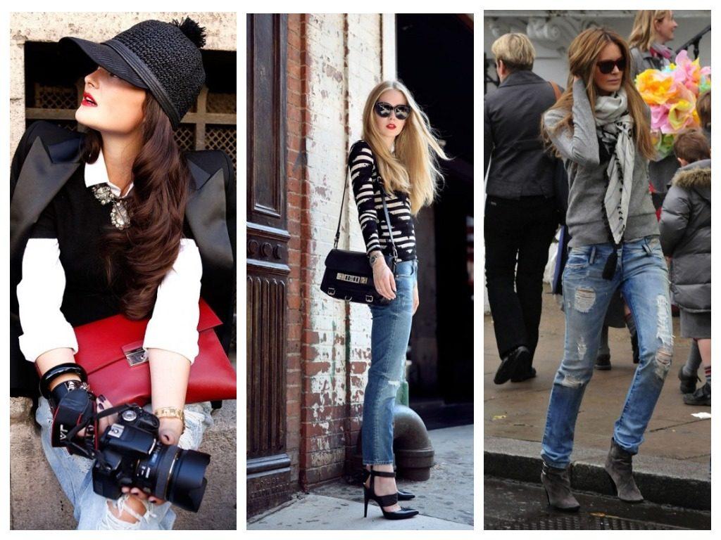 Как и с чем носить рваные джинсы, модные образы для полных девушек
