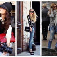 Как и с чем носить рваные джинсы, модные образы