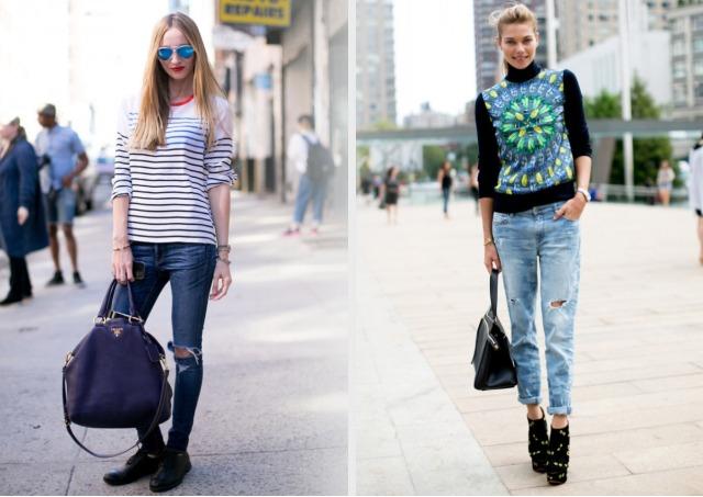 уличный стиль с джинсами