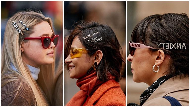 мода тренд заколки