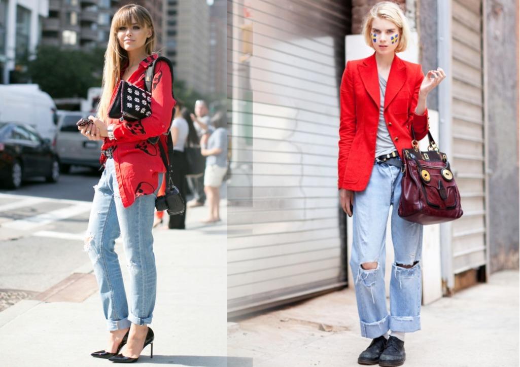 модные фасоны рваных джинсов