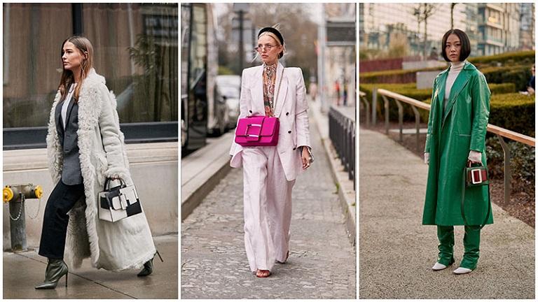 трендовые аксессуары, сумки с большими пряжками