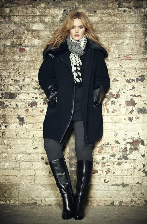 Плюс размер женщин зимняя мода