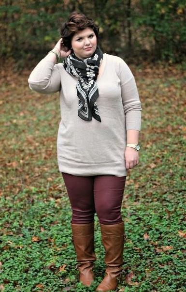 как носить длинные сапоги пышных девушек