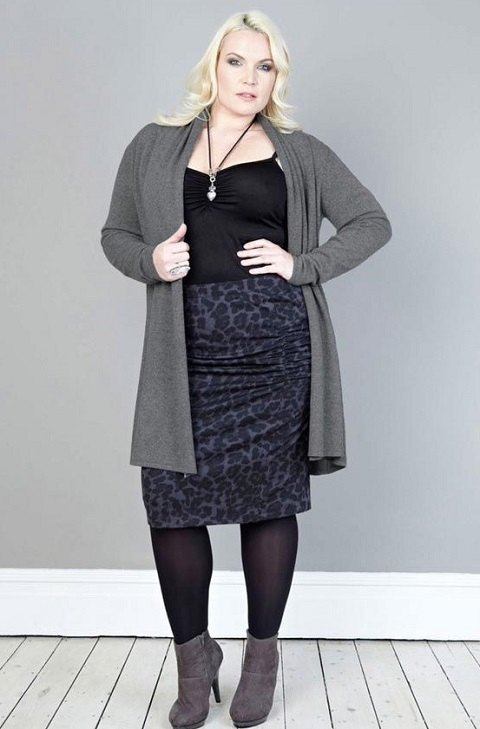 плюс размер женщин юбки мода